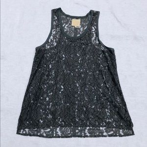 CHASER**Gray Lace Top**Medium